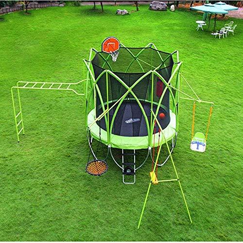 10 FT Kindritten Grote set Inclusief ladder Swing Liften Bouncers Band Basketbalbord Bokszak Plafondcombinatie Bed(Upgrade)