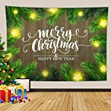 Daesar Tapiz de Pared Habitacion,Merry Christmas and Happy New Year Tapiz Tela...