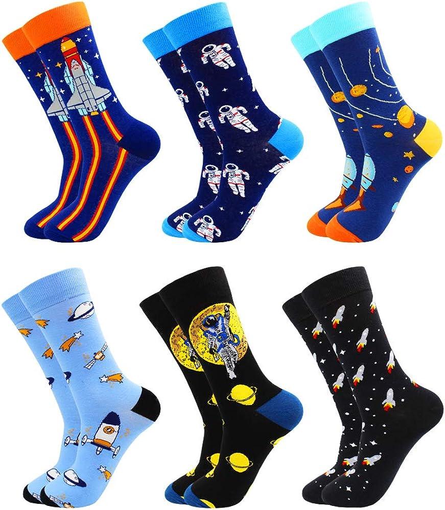 TOEJYJ Men Women Fun Socks, Colorful Crazy Cool Funny Socks, Pattern Funky Novelty Socks Size 9-11