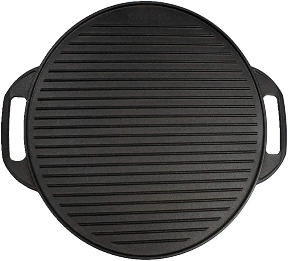 41CM Black Cast Iron Double-sided Round Choice Barbecue Larg Pan Baking OFFicial site