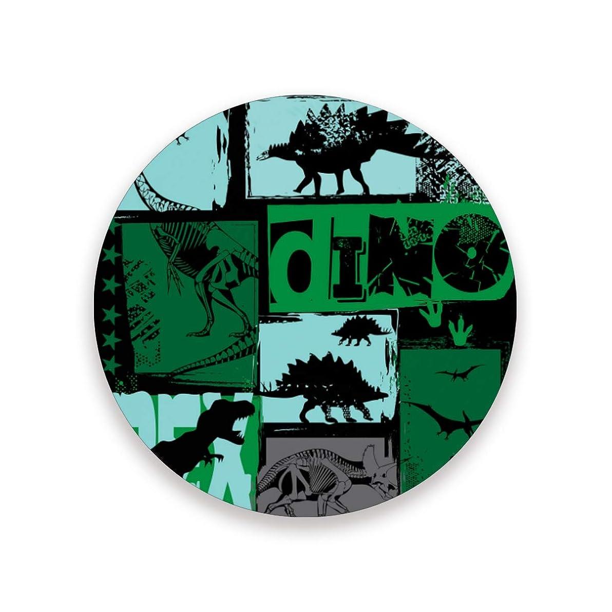 素晴らしき立ち向かう南西コースター おしゃれ 茶パッド 恐竜柄 かわいい 滑り止め エコ 速乾 抗菌 消臭 1枚セット