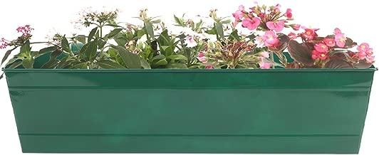 Trust basket - Rectangular Railing Planter - Green ( 23 Inch)