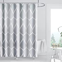 FYY Shower Curtain, 72 x 72 Inch Heavy Duty Waterproof Fabric Shower Curtain with Rust-Resistant Metal Grommets and 12 Pla...