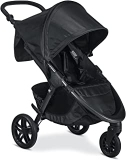Britax B-Free Stroller - Up to 65 pounds - Car Seat Compatible - UV 50+ Canopy - Adjustable Handlebar - Easy Fold, Cool Flow Ventilating Fabric, Grey