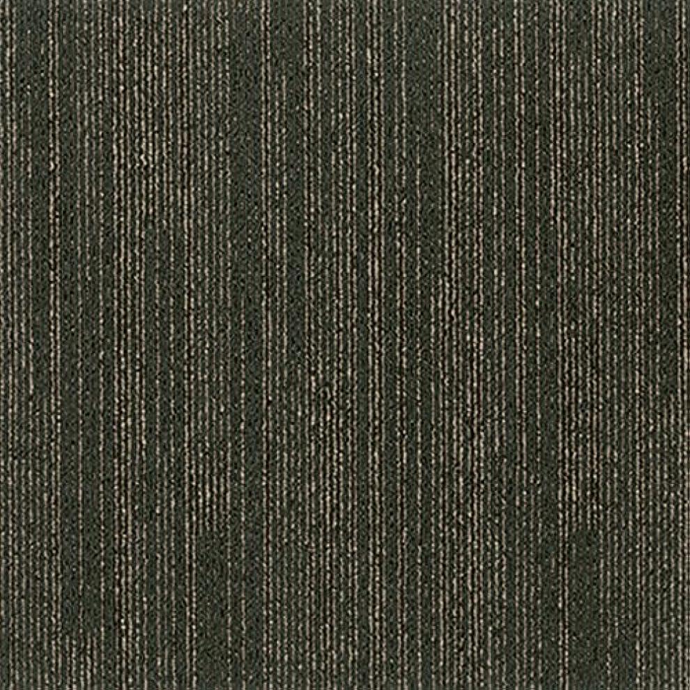 染色かなりキャリッジシンコール タイルカーペット5枚 リーズ ブラック LEE-103