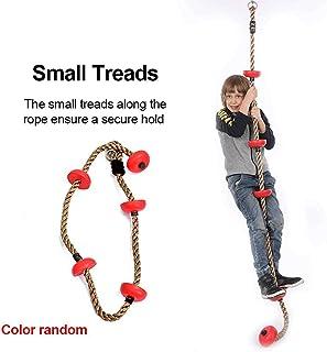 Cuerda de Escalada para niños con Gancho de Seguridad Superficie de la Banda de Rodadura Material Resistente a la Intemperie La Cuerda de Escalada es el Juguete Ideal para ejercitar el Equilibrio
