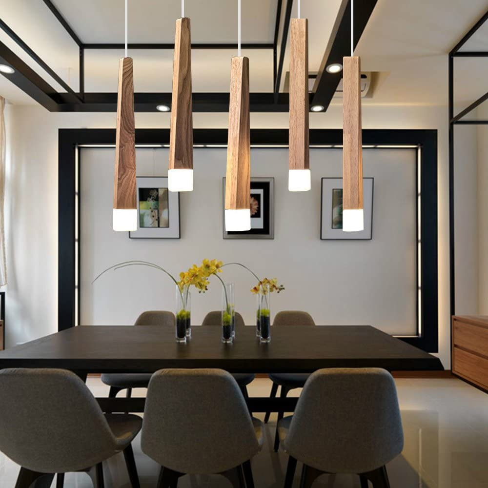 LED Pendant Light Dining Table Lamp Height Adjustable Dining Room ...
