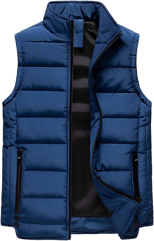 LYLY Vest Women Mens Vest Solid Autumn Warm Sleeveless Jacket Men Winter Casual Waistcoat Male Outwear Plus Size Vest Coats Vest Warm (Color : CC363 Blue, Size : XL)