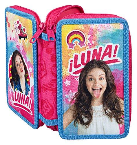 Undercover SORN0430 Doppeldecker Schüleretui mit Stabilo Markenfüllung, Disney Soy Luna, 29 teilig