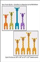 Sew Fresh Quilts Ptrn Giraffes in A Row Pattern