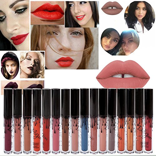 Etosell 16 Couleurs Sexy Liquide Mat Impermeable Rouge A Levres Beaute Maquillage