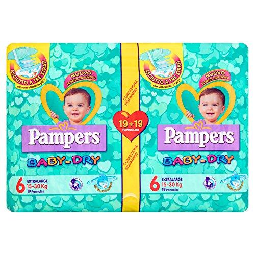 Pampers Baby Dry 15-30 kg, Confezione da 38 Pezzi
