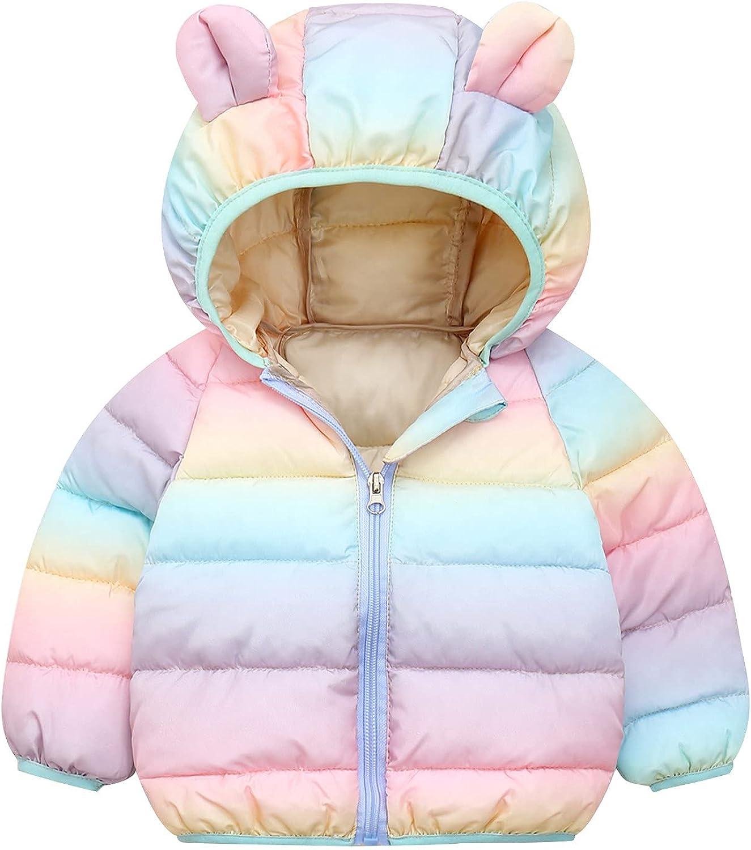Jchen Boys' Girls' Hoodies Discount is also underway Elegant Jacket Color Gradient Full Zipper Out