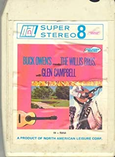 Buck Owens Meets the Willis Bros. With Glen Campbell 8 Track Tape