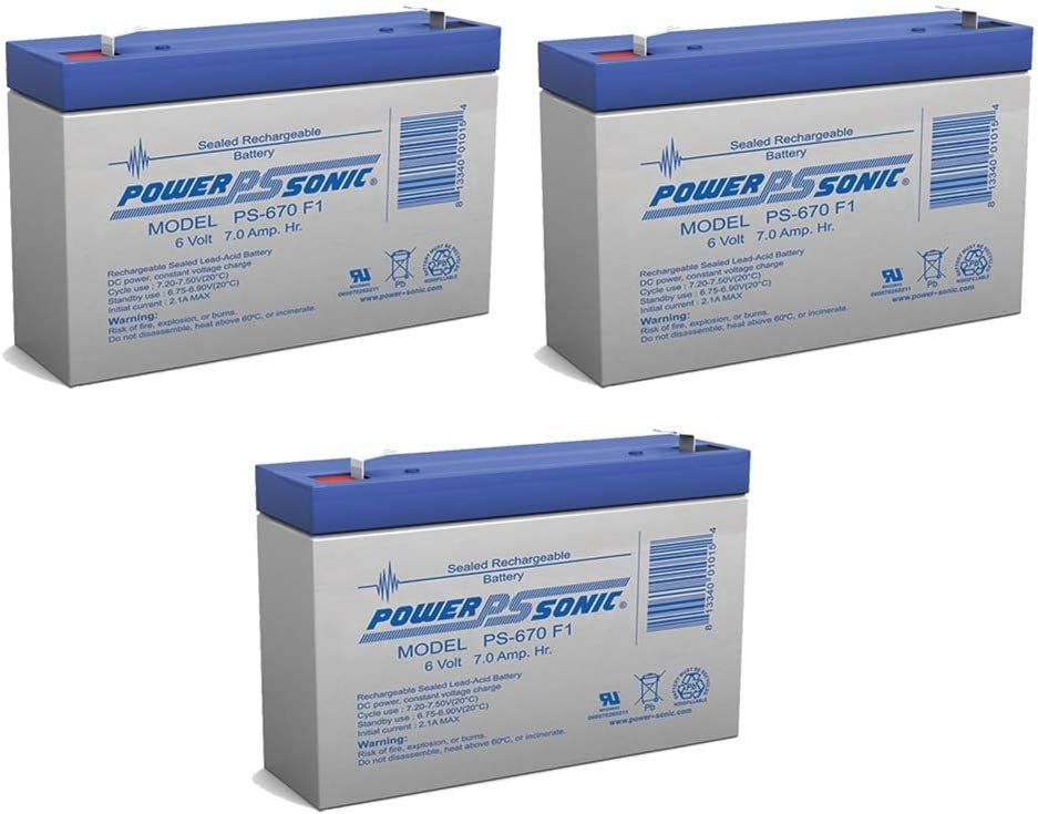 Power Directly managed store Sonic 6V 5 ☆ very popular 7Ah SLA Battery Replaces Bentley Rider GTC Vroom