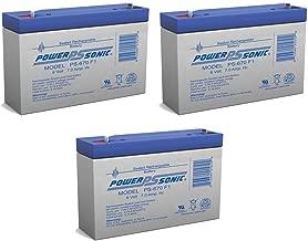 PS-670 - 6V 7Amp SLA Battery - 3 Pack