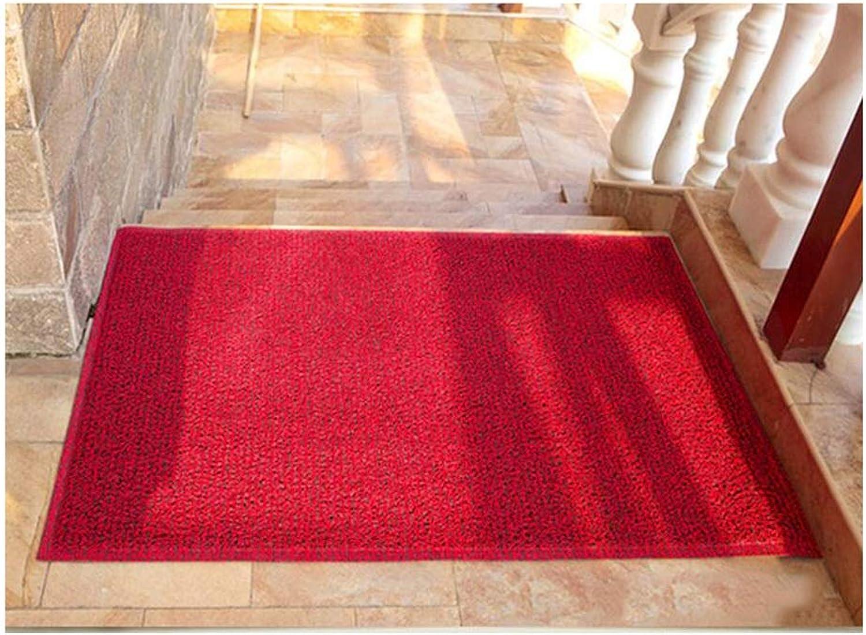 JIAJUAN Front Doormat Entrance Durable Washable Non Slip Dirt Trapper Floor Mat Indoor Outdoor, 8mm, 3 Colours, 4 Sizes (color   RED, Size   80x120cm)