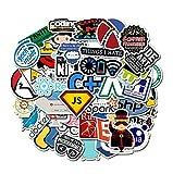 50 Pcs Internet Java Autocollant Geek Programmeur PHP Docker HTML Bitcoin Cloud Langage De Programmation C ++ pour Ordinateur Portable De Voiture DIY Autocollants