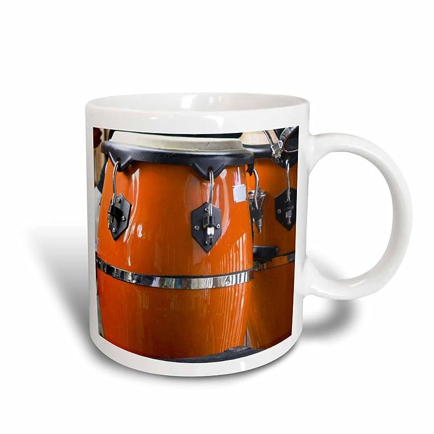 3dRose Orange Conga Drums Magic Transforming Mug, 11-Ounce