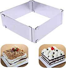TXIN Stainless Steel Cake Ring Square Cake Mousse Mold Ring Cutter, Adjustable from 6 inch to 11 inch