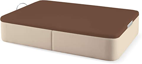 Naturconfort Canapé Abatible Tapizado Tapa 3D Chocolate Low Cost Beige 105x200cm Envio y Montaje Gratis