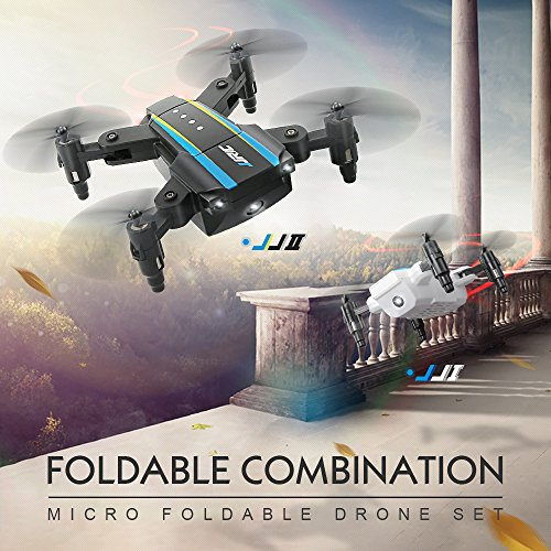 TwoCC Drone Remote Control Toy Car Aircraft, Jjrc H345 Dual Aircraft Combination Drone pieghevole Quadcopter Set Ar Game