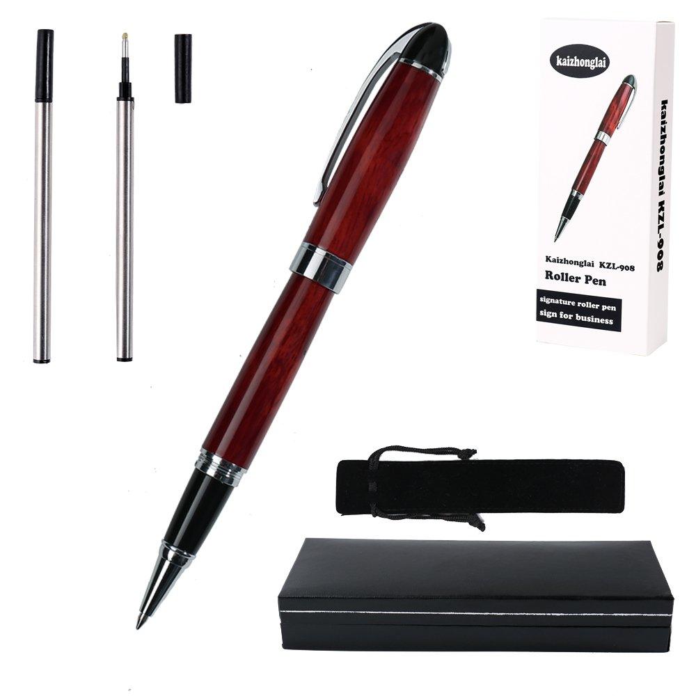 kaizhonglai - Código KZL908 - Bolígrafo clásico de gel, con estuche regalo y 2 cartuchos de tinta-: Amazon.es: Oficina y papelería