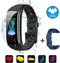 BTMAGIC Fitness Tracker with Blood Pressure Heart Rate Sleep Monitor, IP68 Waterproof Activity Tracker, Calorie Step Counter for Women Men Kids