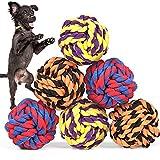 G.C 6 Pack Juguetes perros Grandes Resistentes, Juguet de Cuerda para Perros Indestructible, Cepillo de Dientes para Cachorros de Perro Pequeños Medianos, Interactivo Mascotas Masticar Juego
