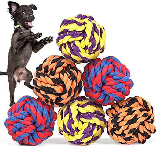 G.C 6 Stück Hundespielzeug Seil unzerstörbar große Hunde, Hund Spielsachen Kauspielzeug Robustes interaktives, Hundezahnbürste Spielzeug für Kleine Welpen Mittelgroße Hündchen