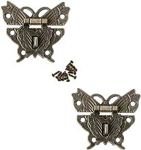 JINXM 2 stuks decoratieve vlindergespen in retro design met gesp antiek slot hardware met schroeven