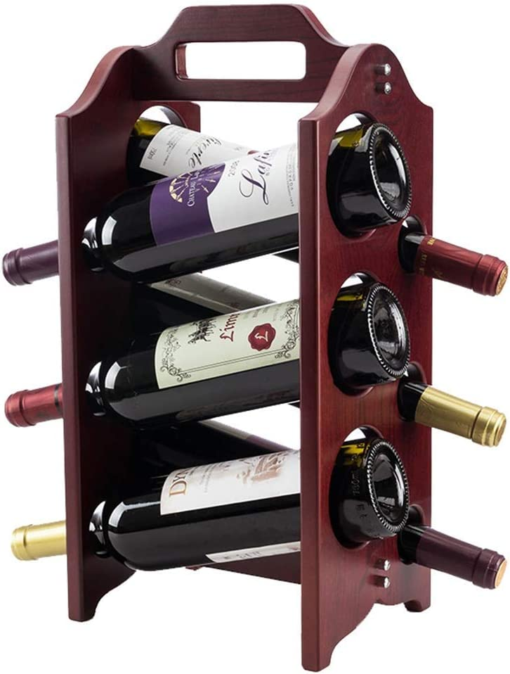 CESULIS ! Super beauty product restock quality top! Wine Rack 6-Bottle Storage For Shelves Kitchen New mail order