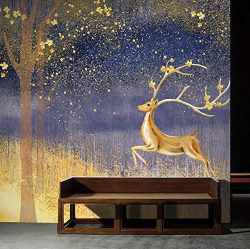Wand-Bild Goldener Baum,Hochauflösendes Wasserfall-Poster Xxl, Natur Poster In Hd, Großes Fotoposter Wanddekoration (W300 X H210Cm)