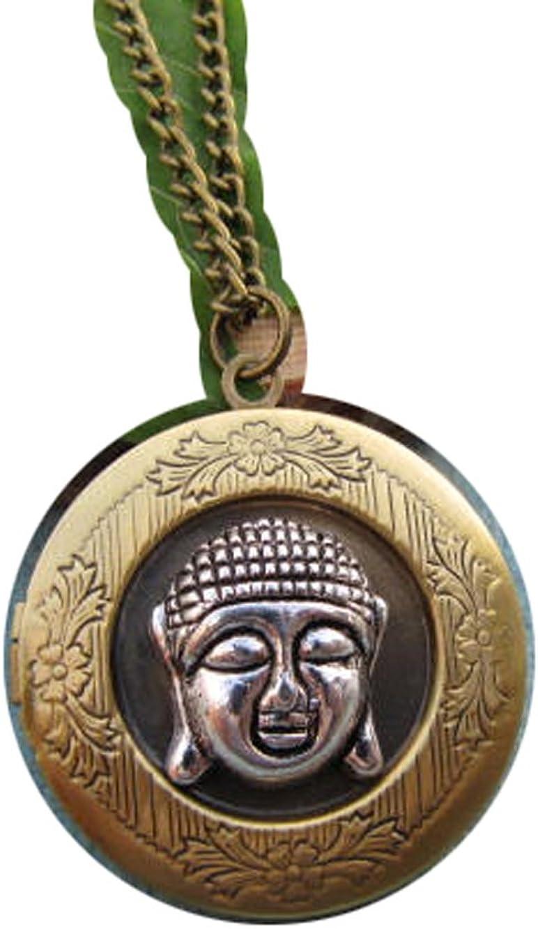 2Pcs Buddha locket necklace,buddha locket pendant,buddha head locket,buddha jewelry,yoga,zen