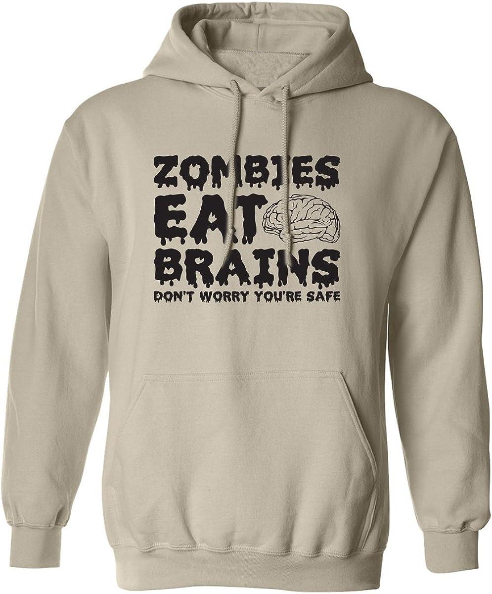 ZOMBIES EAT BRAINS Adult Hooded Sweatshirt