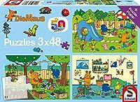 Ein Tag mit der Maus, 3x48 Teile Puzzle: Kinderpuzzle, Die Maus