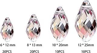 50mm Fushing 20Pcs Crystal Teardrop Chandelier Prisms Pendants Parts Beads