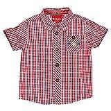 BONDI Camisa a cuadros para traje regional para bebé y niño, número de artículo 91375 Cuadros rojo/blanco. 110 cm