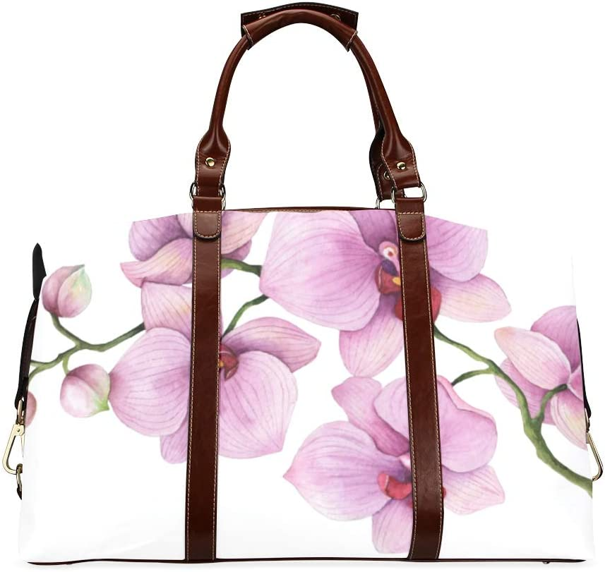 Free shipping anywhere in the nation Unisex Duffel Bag Orchid Branch Classic Spring Flower Topics on TV Oversized