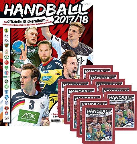 CAGO Handball Bundesliga 2017/18 Sammelsticker - Album, Tüten, Display (1 Album + 10 Tüten)