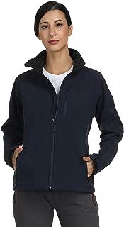 MIER Women's Windproof Softshell Jacket Front Zip Tactical Jacket with Fleece Lined, Water Resistant, YKK Zipper, XL