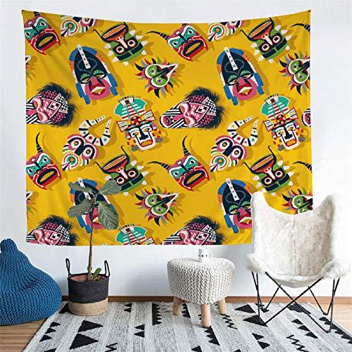 WANGYORTE Home afrikanischen Stil Wandteppich Wandbehang Strand Picknickdecke Camping Zelt Isomatte -280_80X68inch