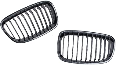 MDYHJDHYQ Front Air Grille Front Grilles for B M W F20 F21 2011-2014 Pair Carbon Fiber ABS Front Kidney Grille Car Accessorie