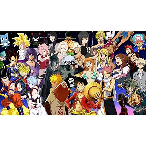 Jigsaw Naruto 300/500/1000 Piezas para Adultos y Adolescentes Colección de Anime japoneses Puzzles Funny Family Games Decoración del hogar AI37 (Color : A, Size : 1000PC)