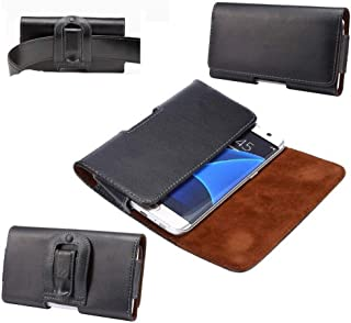 DFV mobile - Case Belt Clip Genuine Leather Horizontal Premium for => SAMSUNG SM-N950J GALAXY NOTE 8 WIMAX 2+ SCV37 (SAMSUNG BAIKAL) > Black