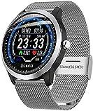 WXDP elektronische Uhr,Smart Watch 1.22In Männern PPG EKG Herzfrequenzmesser Schlafverhalten wasserdicht tragbare Gerät Bluetooth Smartwatch Frauen können Android iOS-Versio