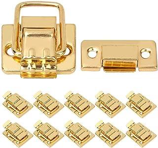 HEEPDD koffer hasp grendel, 10 stuks roestvrij staal gouden grendel sluiting voor houten kist bagage koffer sieradendoos 2...
