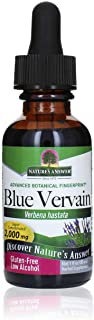 Blue Vervain Herb Extract Nature's Answer 1 oz Liquid | Stress Reliever | Anxiety Reducer | Natural Mood Support