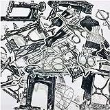 votgl Viaje Negro Blanco máquina de Coser Tijeras Pegatina DIY artesanía álbum de Recortes Diario planificador Pegatinas Decorativas 22 unids/Set