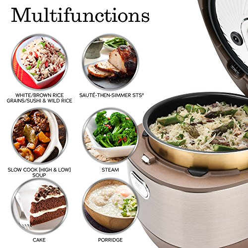 Aroma Housewares Aroma Professional Rice Cooker/Multicooker, 10-Cup Uncooked, Champagne